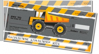 Click on Construction Truck Side Tear Personal Checks For More Details