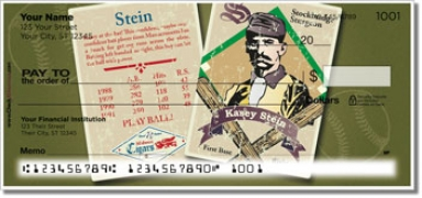 Click on Vintage Baseball Card Personal Checks For More Details