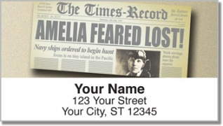 Click on Amelia Earhart Address Labels For More Details