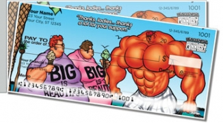 Click on Bodybuilder Cartoon Side Tear Personal Checks For More Details