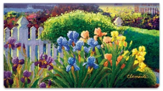 Click on Iris Walk Checkbook Cover For More Details
