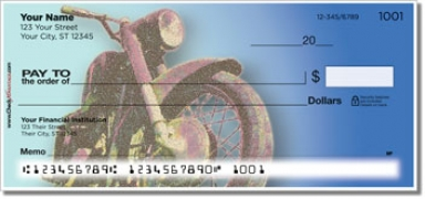 Click on Old School Motorcycle Personal Checks For More Details
