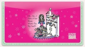 Click on Shoe Lover Checkbook Cover For More Details