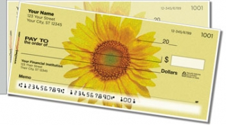 Click on Artistic Sunflower Side Tear Personal Checks For More Details