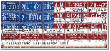 Click on Americana License Plate Personal Checks For More Details