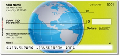 Map of the World Personal Checks
