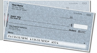 Click on Blue Topographic Side Tear Personal Checks For More Details