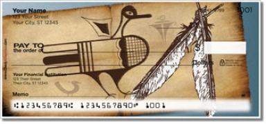 Click on Native American Bird Symbol Personal Checks For More Details