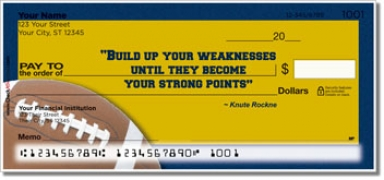 Click on Knute Rockne Personal Checks For More Details