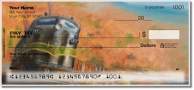 Classic Diesel Locomotive Personal Checks