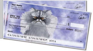 Click on Persian Cat Side Tear Personal Checks For More Details