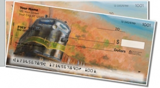Click on Classic Diesel Locomotive Side Tear Personal Checks For More Details