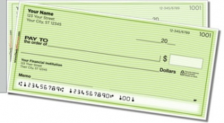 Click on Green Safety Side Tear Personal Checks For More Details