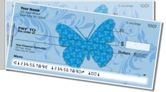Click on Butterfly Print Side Tear Personal Checks For More Details