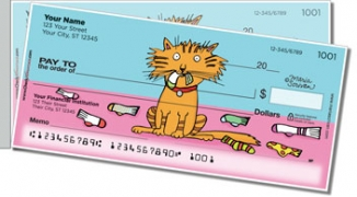 Click on Scrivan Cats Side Tear Personal Checks For More Details