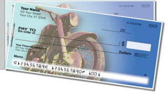 Click on Old School Motorcycle Side Tear Personal Checks For More Details