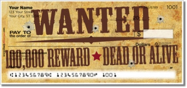 Click on Wild West Personal Checks For More Details
