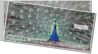 Click on Colorful Peacock Side Tear Personal Checks For More Details
