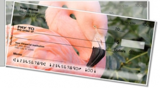 Click on Pink Flamingo Side Tear Personal Checks For More Details