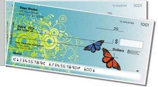 Click on Butterfly Scroll Side Tear Personal Checks For More Details