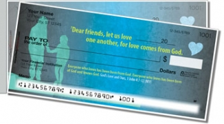 Click on God's Love Side Tear Personal Checks For More Details