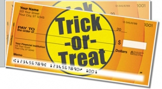 Click on Halloween Side Tear Personal Checks For More Details