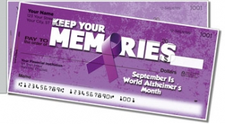 Click on Alzheimer's Awareness Side Tear Personal Checks For More Details