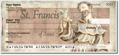 Click on Christian Saint Personal Checks For More Details