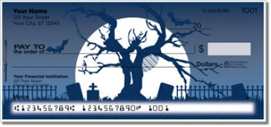 Click on Halloween Graveyard Personal Checks For More Details
