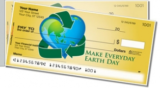 Click on Earth Day Side Tear Personal Checks For More Details