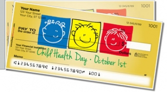 Click on Child Health Day Side Tear Personal Checks For More Details