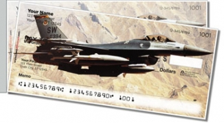 Click on F-16 Fighter Jet Side Tear Personal Checks For More Details