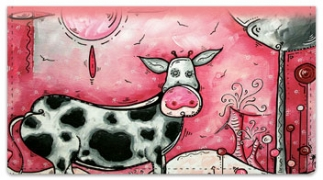 Click on I Love Moo Checkbook Cover For More Details