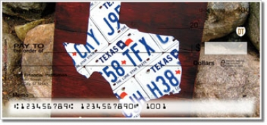 Click on Texas License Plate Personal Checks For More Details