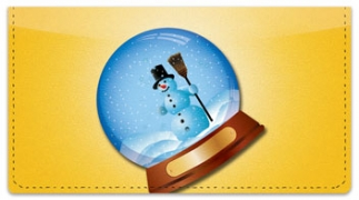 Click on Snow Globe Checkbook Cover For More Details