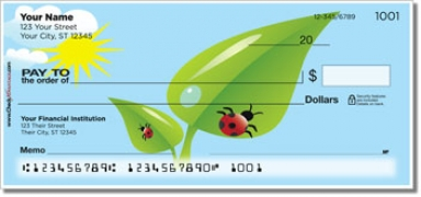 Click on Cute Ladybug Personal Checks For More Details