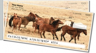 Click on Country Horse Side Tear Personal Checks For More Details
