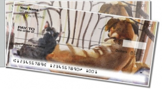Click on Dog and Cat Painting Side Tear Personal Checks For More Details