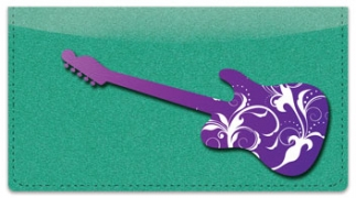 Click on Scroll Guitar Checkbook Cover For More Details