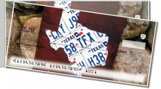 Click on Texas License Plate Side Tear Personal Checks For More Details