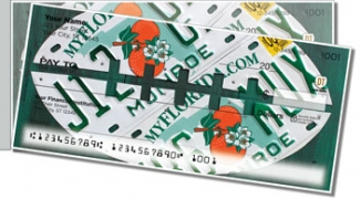 Click on Florida License Plate Side Tear Personal Checks For More Details