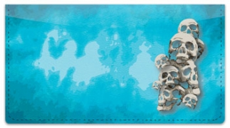 Click on Scary Skull Checkbook Cover For More Details