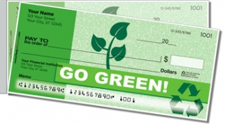 Click on Going Green Side Tear Personal Checks For More Details