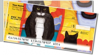 Click on Contemplating Cats 4 Side Tear Personal Checks For More Details