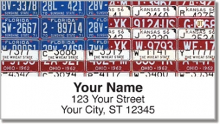 Click on Americana License Plate Address Labels For More Details