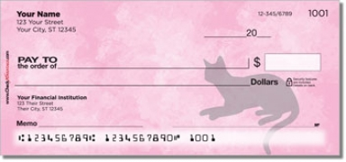 Click on Cat Silhouette Personal Checks For More Details
