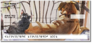 Click on Dog and Cat Painting Personal Checks For More Details