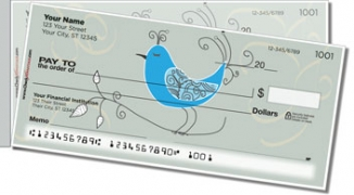 Click on Whimsical Bird Side Tear Personal Checks For More Details