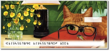 Click on Contemplating Cats 2 Personal Checks For More Details