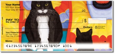 Click on Contemplating Cats 4 Personal Checks For More Details
